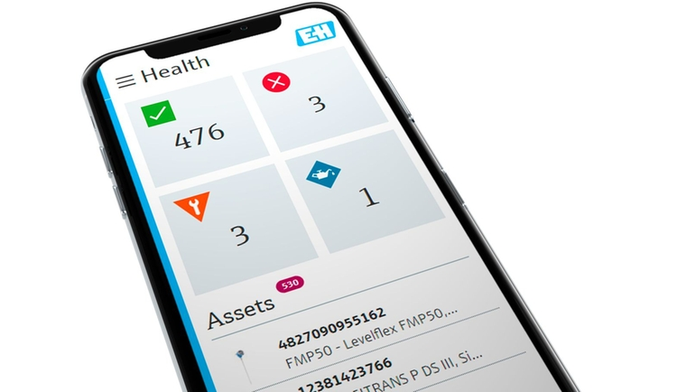 Health screen on smartphone eases asset maintenance